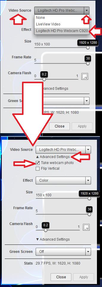 Selectwebcam