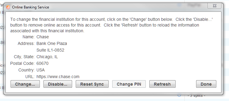 bill pay with Chase--can't make it work / Online Banking