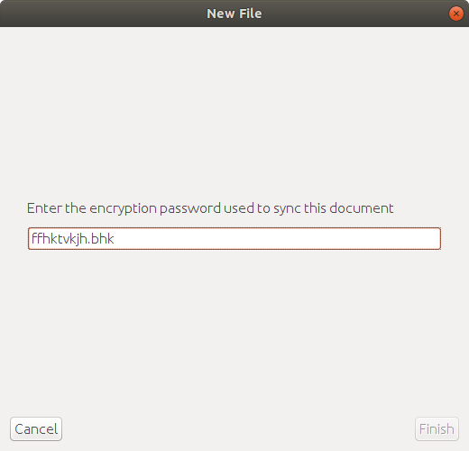 Can't enter Shared Folder sync password / Syncing Moneydance with