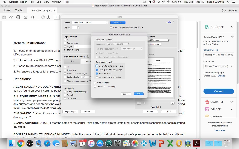 Adobe Reader Page Setup Margins Greyed Out