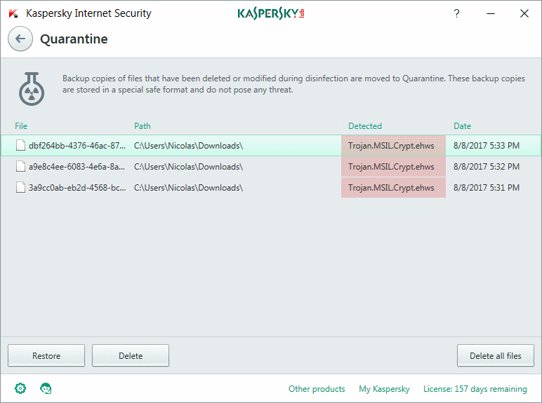 Can't download Beta v7 : Kapersky found a virus / Assistance