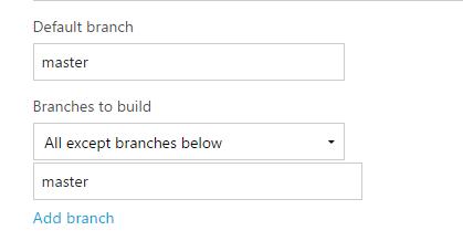 Except-master-branch