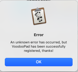 Voodoopad_registration_error