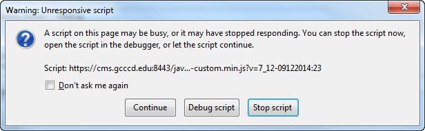 Firefox-error