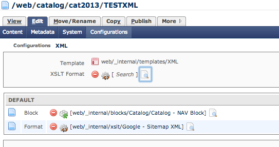 google site xml is not outputting anything how do i