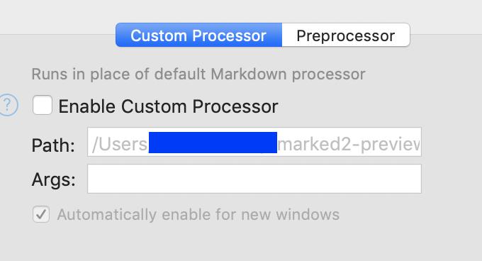 Custom-processor-setting