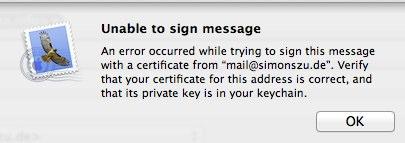 Mailsignerror