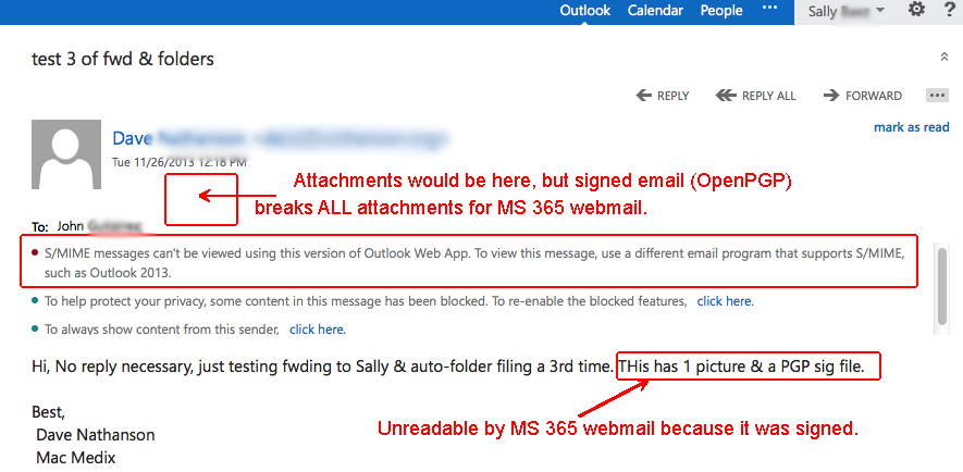 broken attachments in microsoft 365 webmail if gpg signed s mime