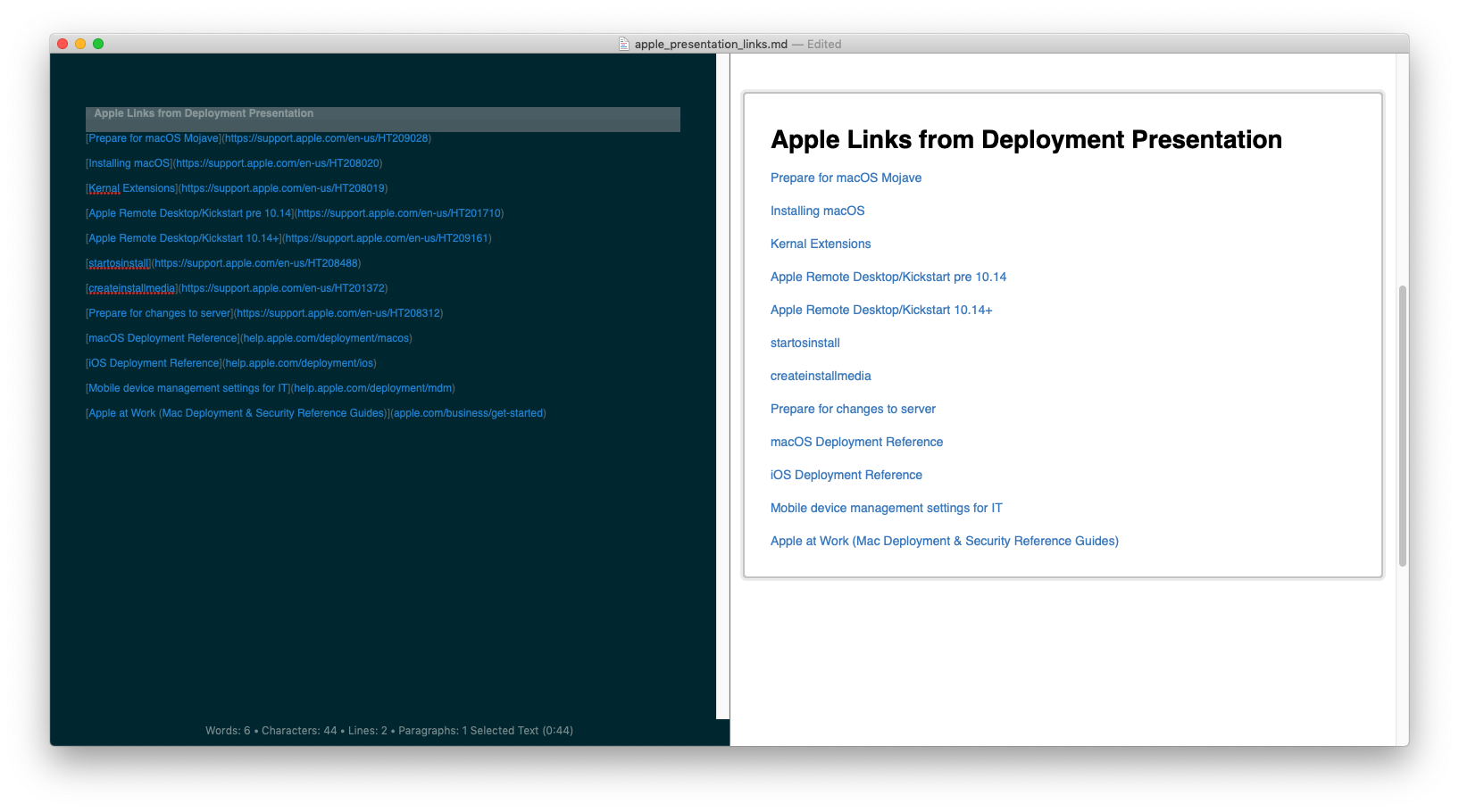 first line link not rendered as link / Problems (v4 Mac