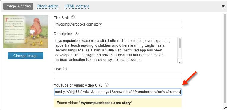 Wordpress - embed youtube videos / RoyalSlider WordPress