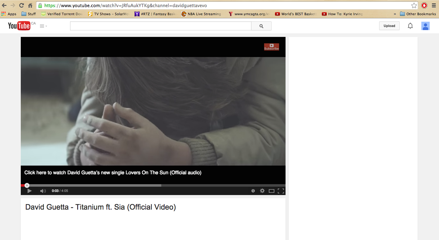 youtube blank page sia