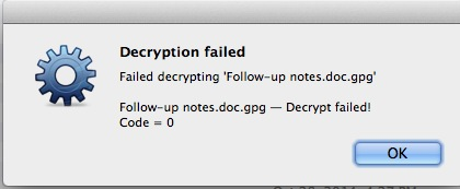File Decryption Failed, Error Code = 0 / Stable / Discussion