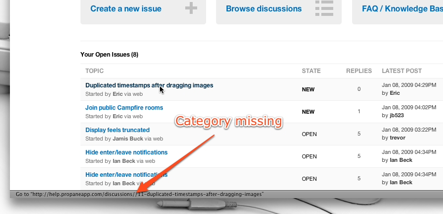 Open-issues-category-missing