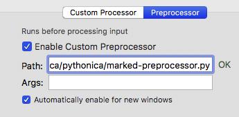 Marked-preprocessor