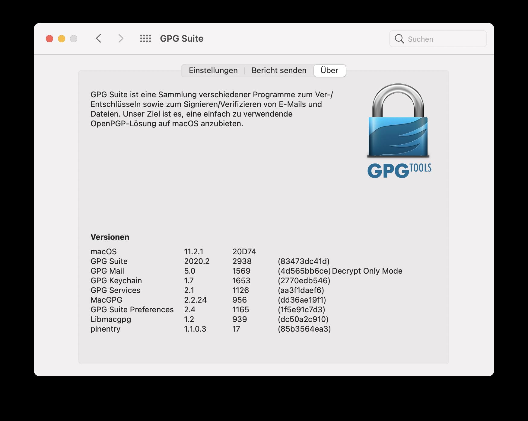 Gpgtools-versions