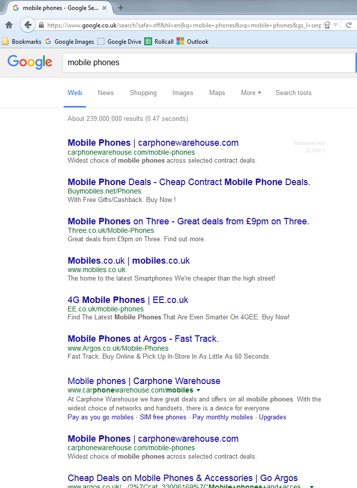 fast google search