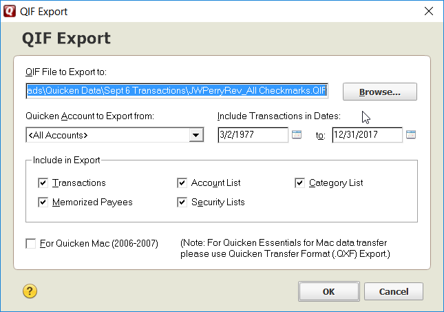 Quicken 2016 Export QIF / Switching to Moneydance / Discussion Area