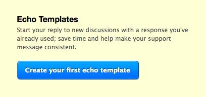 Create your first echo template