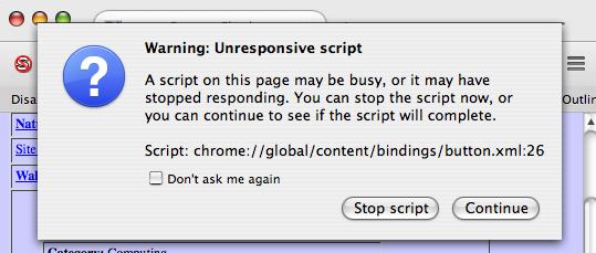 Fox31.3.0-chrome-script-unresponsive