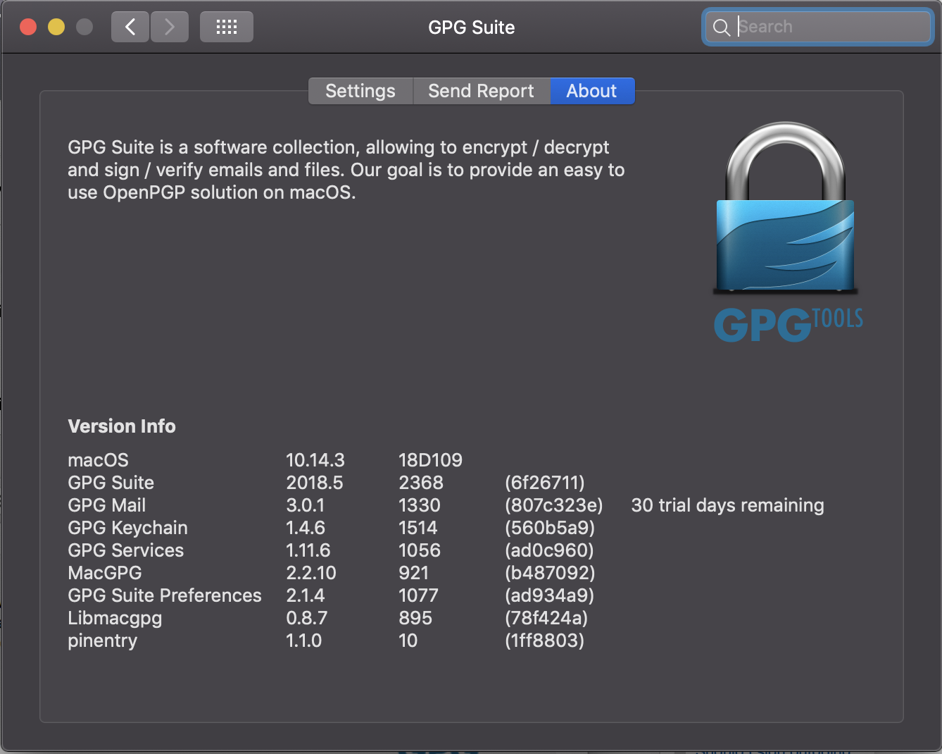 Mac OS Mail missing encrypt and sign buttons / Stable