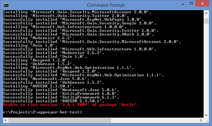 Nuget-restore-issue
