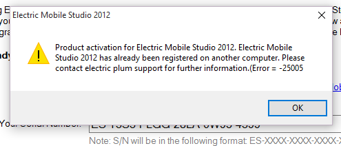 Re Activation in WIndows 10 / Electric Mobile Studio - Problems