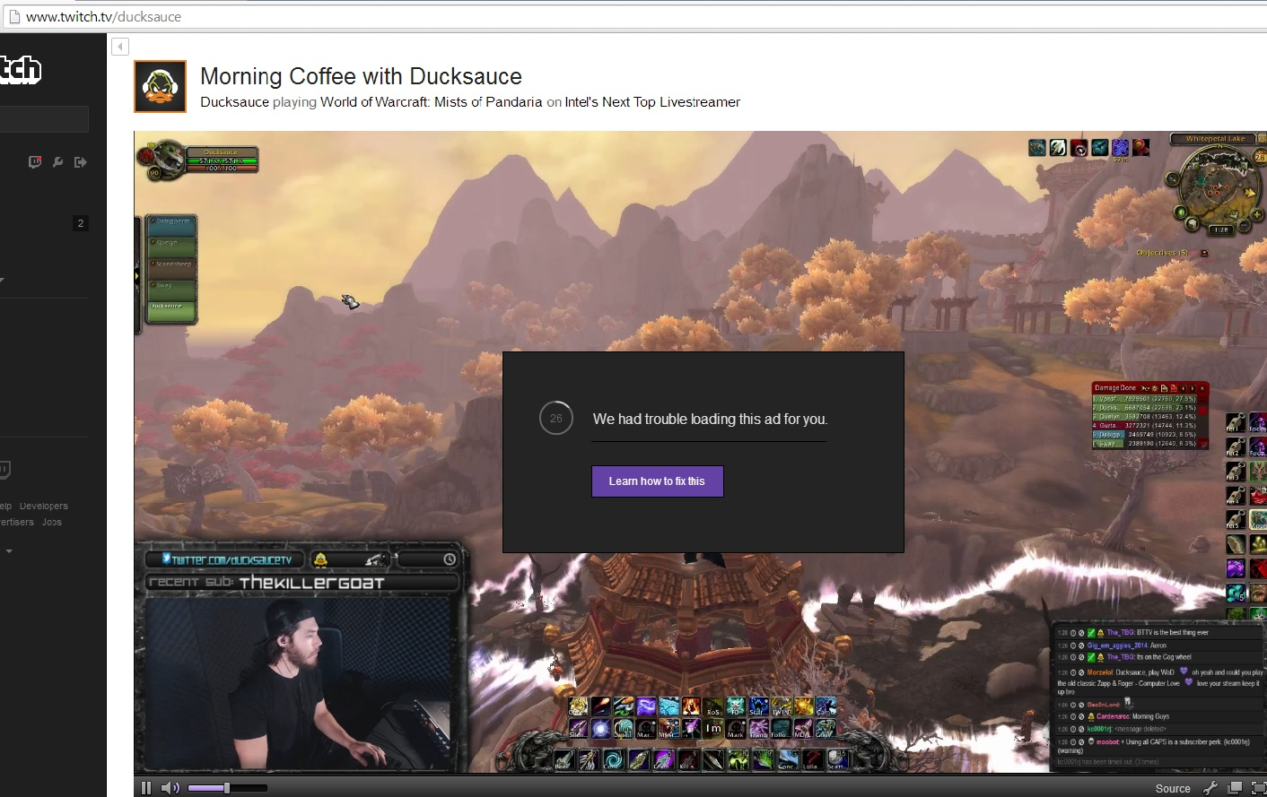 Twitch tv Adblock Issues (Again) / Problems / Discussion Area