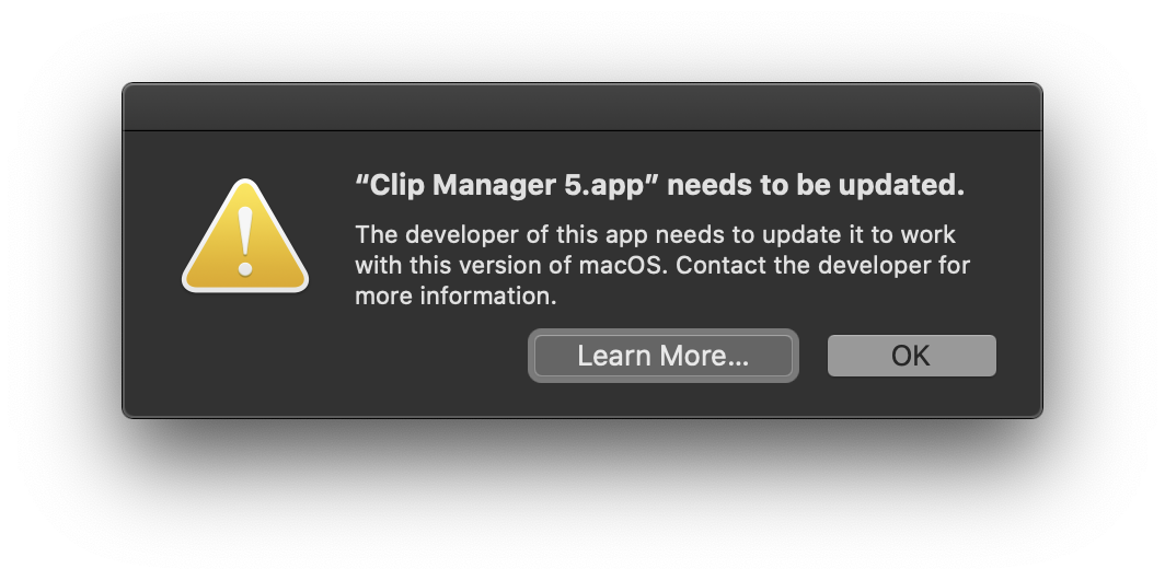 Clip_manager_5_app_needs_to_be_updated