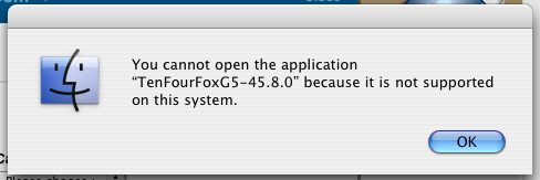 Tenfourfox_45.8_not_supported