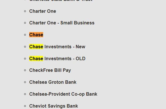 download Chase Brokerage transactions / Online Banking