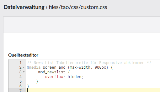 Quelleditor_customcss