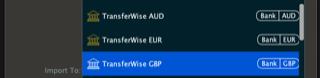 AUD Accounts Import