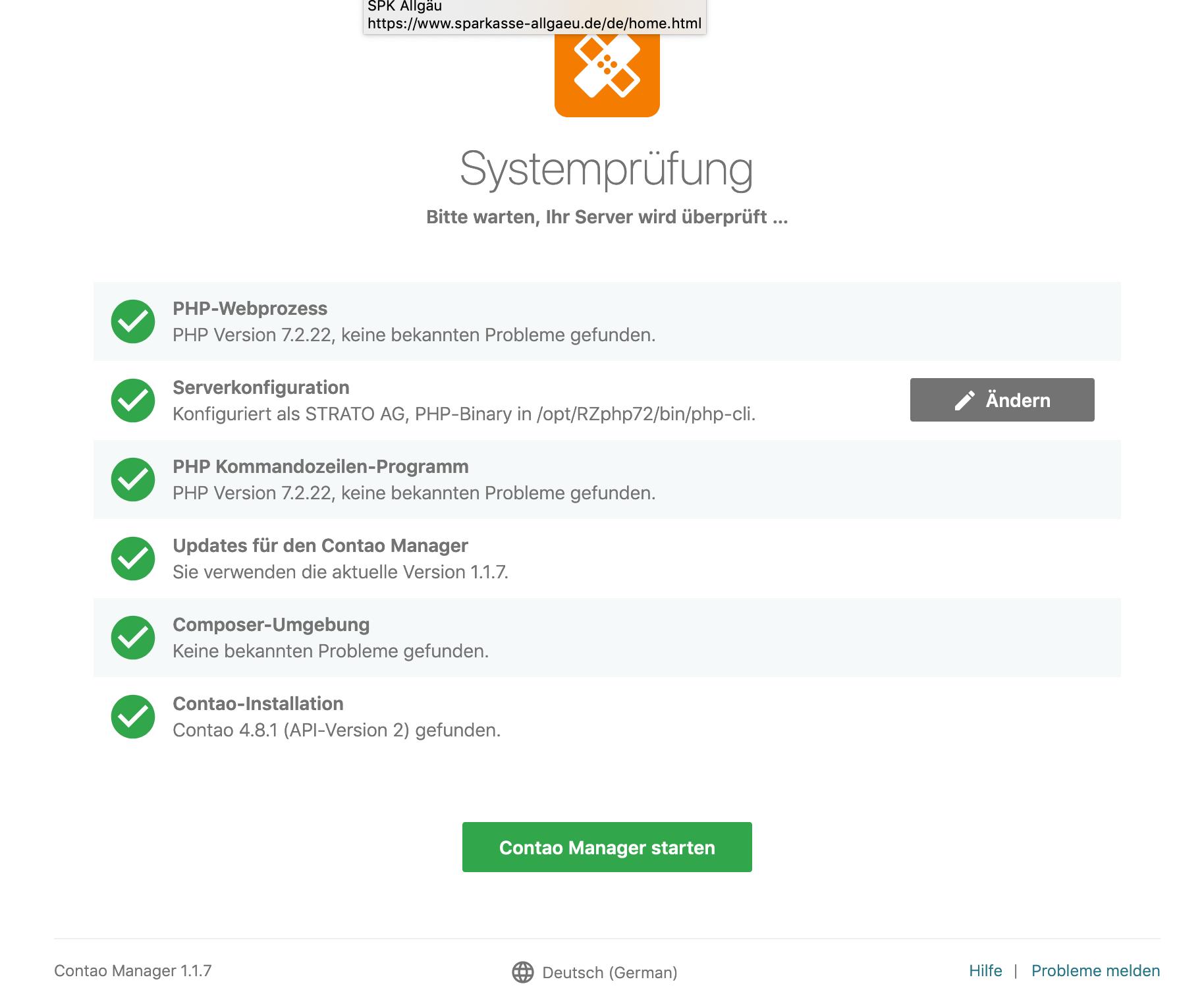 Systemprüfung
