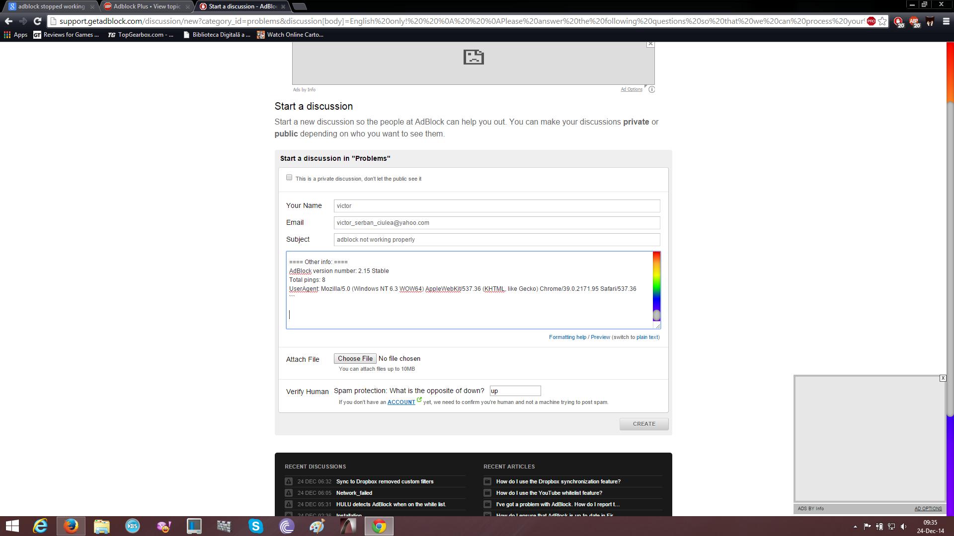 Fix : Adblock Plus (ABP) not working in Google Chrome