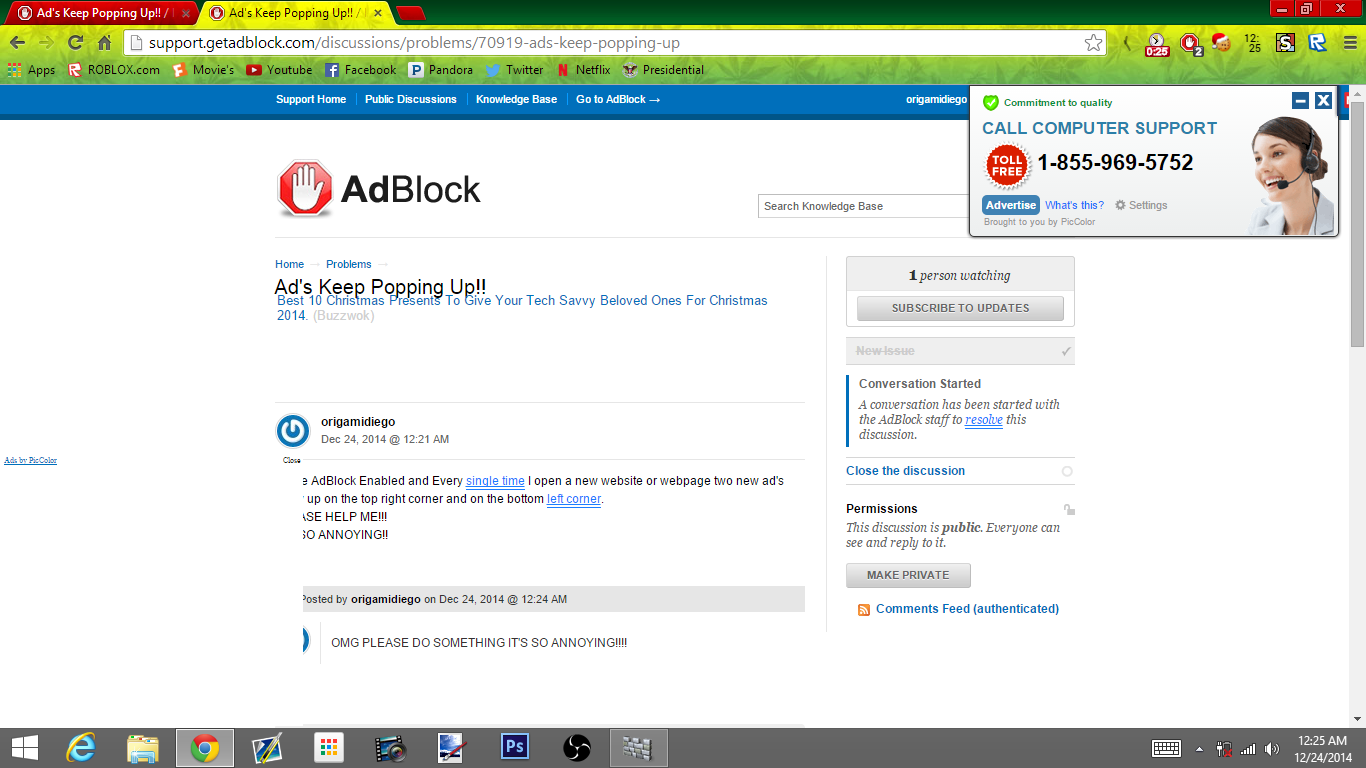 Ad's Keep Popping Up!! / Problems / Discussion Area - AdBlock Support