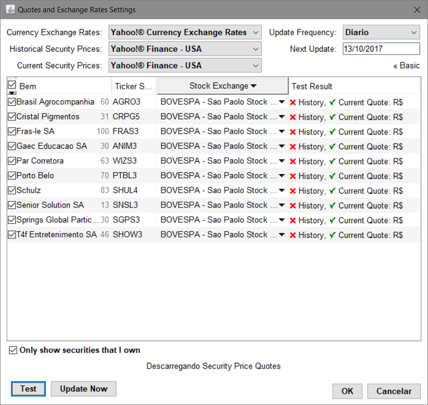 Securities In Yahoo Finance