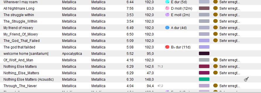 Beatunes_bpm_wrong_metallica_-_mettalica