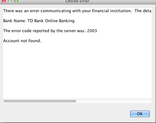 TD Bank still does not work / Problems / Discussion Area