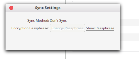 Sync settings options are greyed out / Syncing Moneydance with