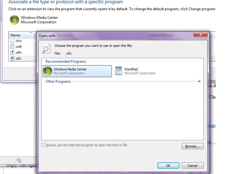 Initial installation: file association - don't default file