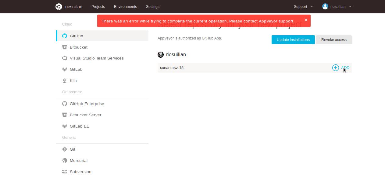 Appveyor-screenshot